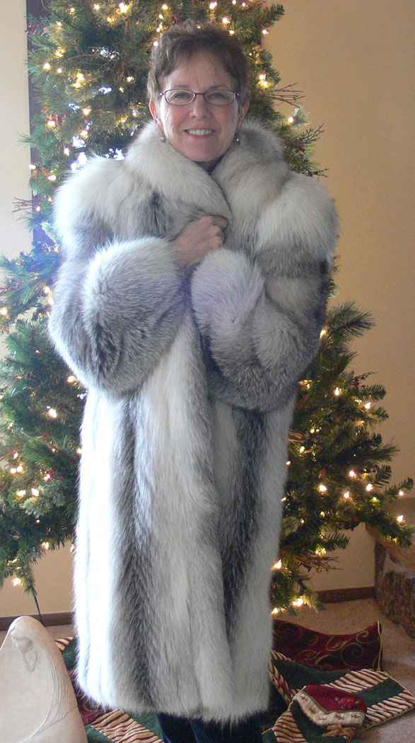Mature in fur coat