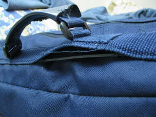 Paul's debate bag handle, sewed halfway