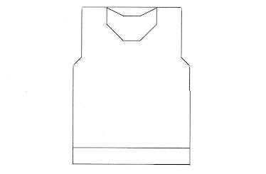 Template for Hooded Ring Jacket ( no sleeves ) - BACK