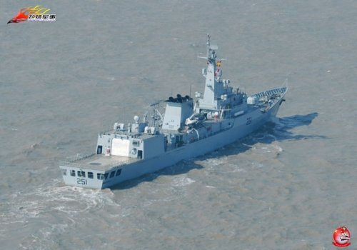 There are four F22P frigates in Pakistan is China's construction of the first ship,