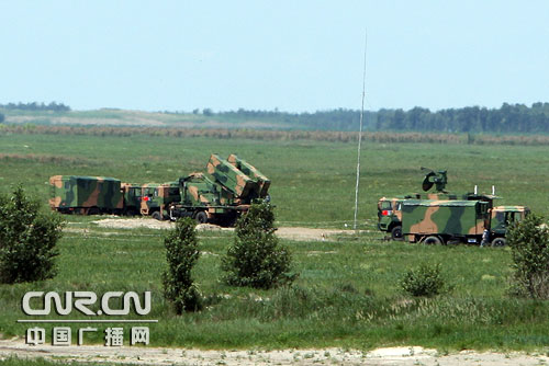 HQ-64 missiles appeared in Sino-Russian military exercise