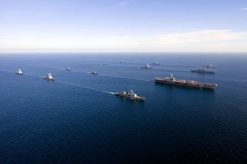 Overlooking the US-ROK joint fleet in air