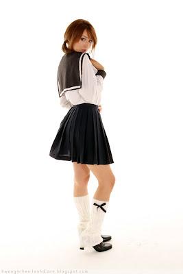 Leah Dizon Cute School Girl Uniform