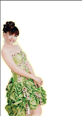 Youk Therotha In Green Dress