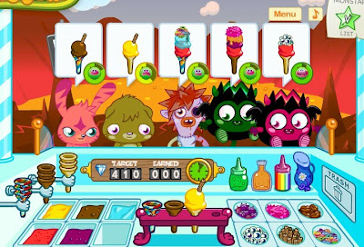 Ice Monster Drawing Moshi Monsters Ice Cream Game