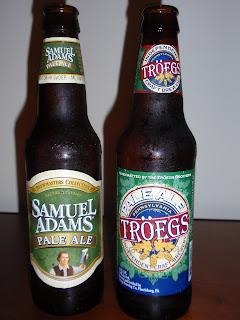 Troegs Pale Ale & Samuel Adams Pale Ale