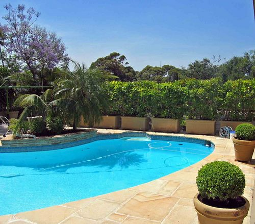 Home decorating ideas home swimming pool with garden for Pool dekoration