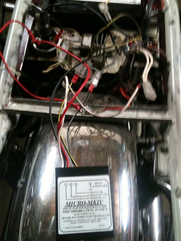 17 me and this motorcycle installed the boyer electronic ignition Coil Wiring Diagram at bayanpartner.co