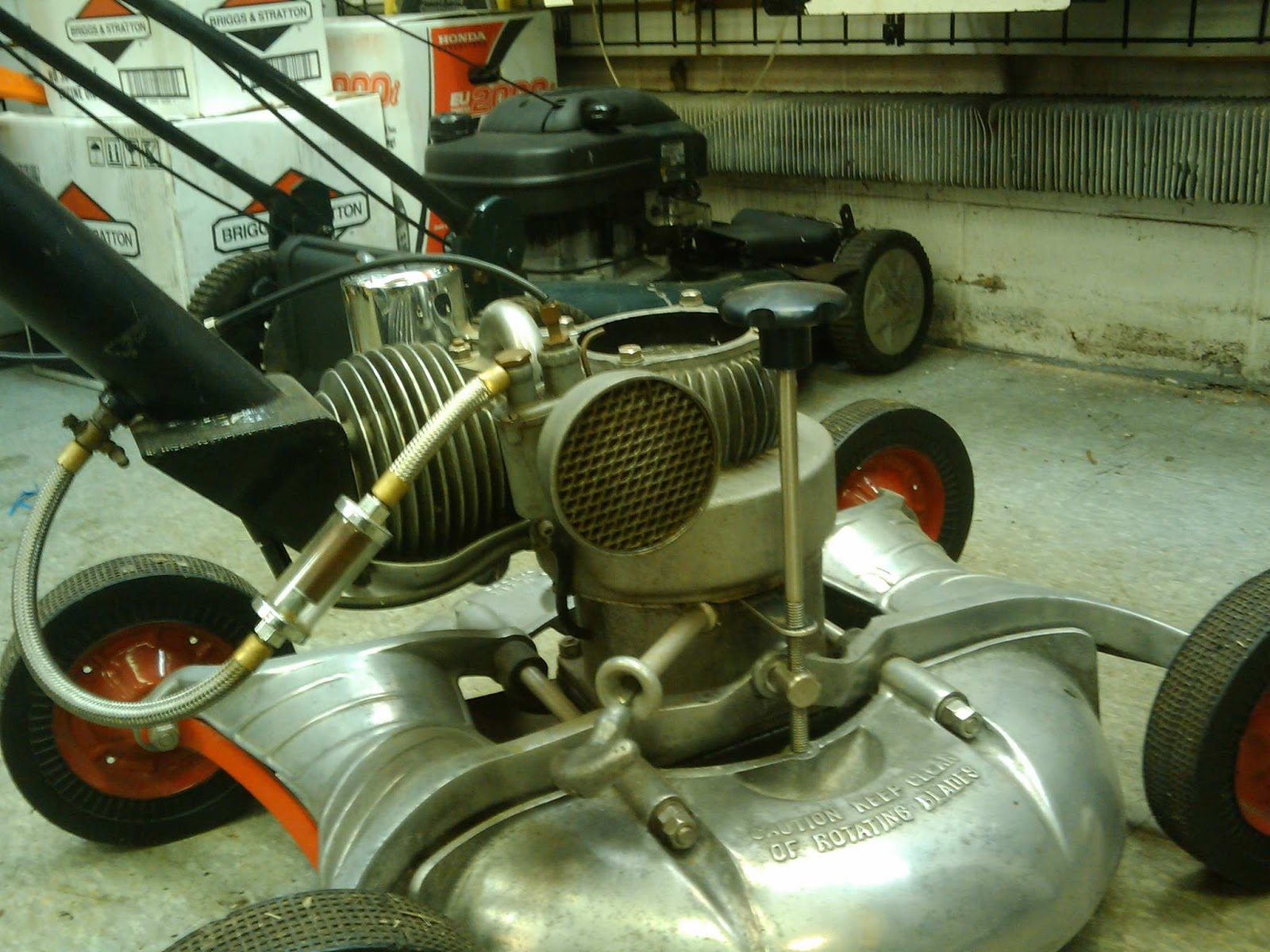 how to fix a smoke lawn mower