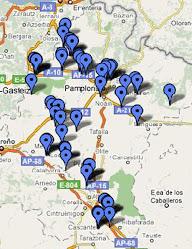 Mapa Antenas de telefonía en Navarra