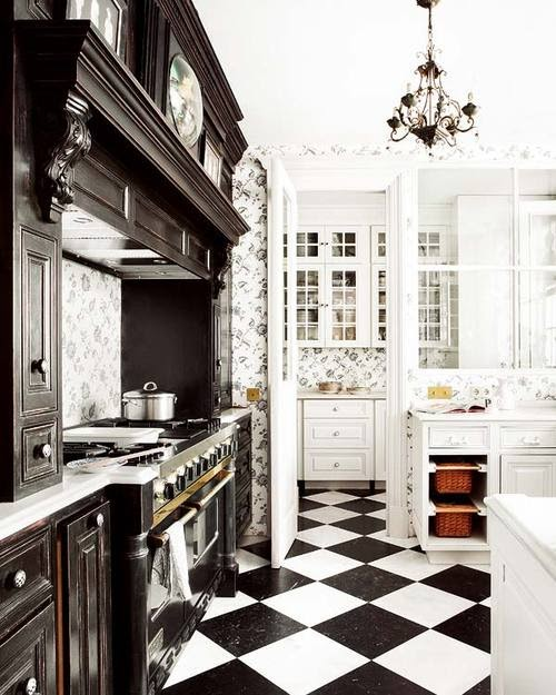 Belle Inspirations: BLACK AND WHITE KITCHENS