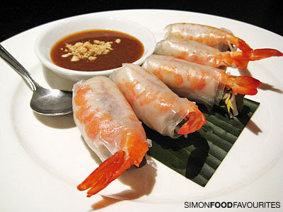 Goi Coun: Fresh Vietnamese rolls with pork, prawns and fresh herns ...
