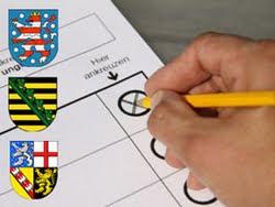 Elecciones  regionales en Sajonia, Turingia y el Sarre, descalabro de la CDU, caídas del SPD y avances de liberales y comunistas