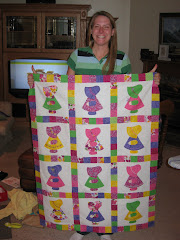 Barbie and Kyle both enjoy quilting. Here is Barb at Kyle's parents' house in early October 2008,