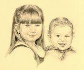 While in Newfoundland, Helena started doing pencil drawings