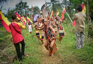 A dance of Dayak Tamambaloh