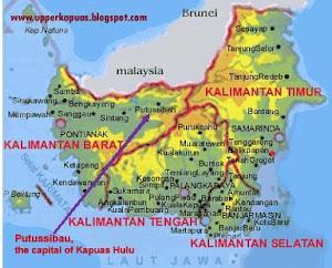 Putussibau on the Borneo island
