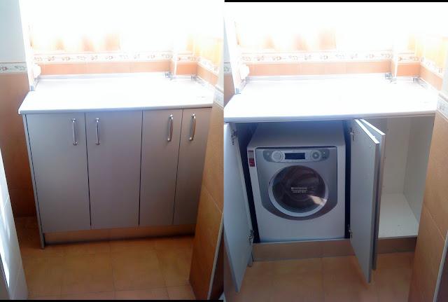 Design dilema c mo ocultar disimular una lavadora for Mueble lavadora exterior