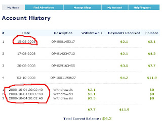 bukti pembayaran buyblogreviews.com, paid review
