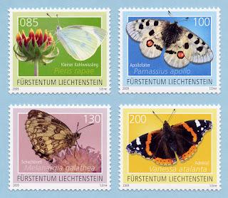 Liechtenstein 2009 Butterflies