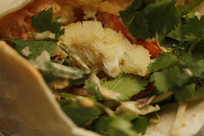 ... Cooks: Fish Tacos with Honey-Cumin Cilantro Slaw and Chipotle Mayo