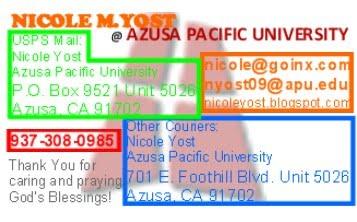 Contact at APU