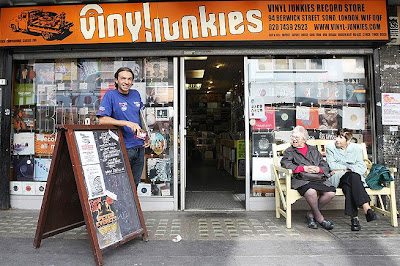 Vinyl Junkies, on Berwick Street in Soho, has a large selection of used records in all genres.