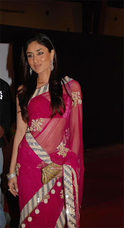 Kareena Kapoor Hot in Maroon Saree