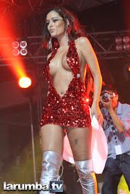 """La novia del Mundial """"Larissa Riquelme"""", en la Feria de la Rumba - 13/11/10 ."""