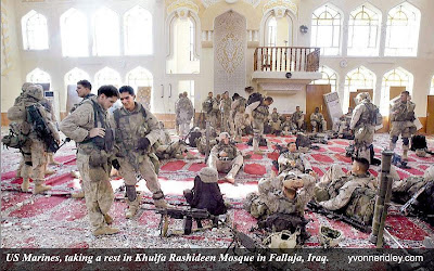 US Marines in (Mosque)Masjid