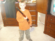 Greyson's first gun!