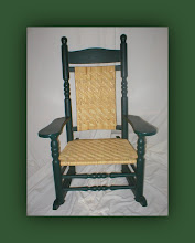 Oversized Porch Rocker - Woven Seat & Back
