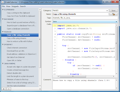 jCodeCollector on Windows 7