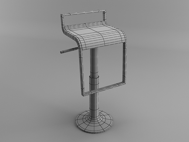 Bar chair 3ds max modeling tutorial tutorials for 3ds max for Tutorial 3d max