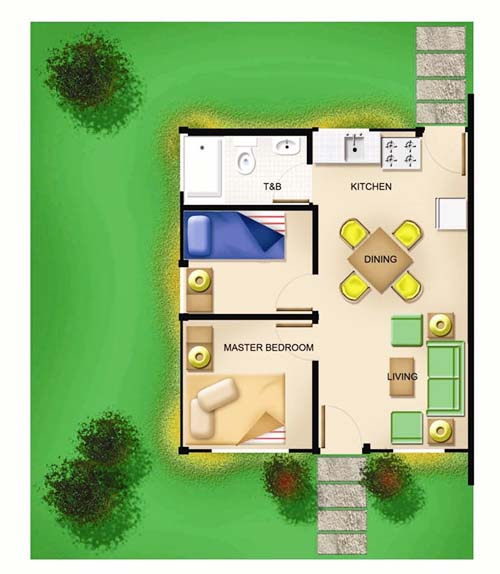 House and Lot Sevilla Model Floor Plan