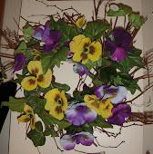 Handmade Pansie Wreath