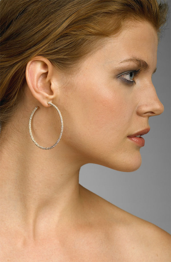 Nadri Large Pavé Hoop Earrings