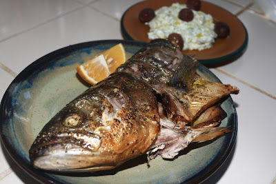 Greek Grilled Blue Fish