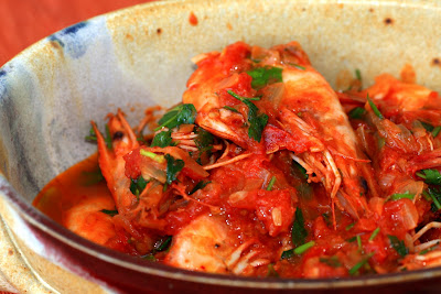 Fried Shrimps in Tomato Sauce