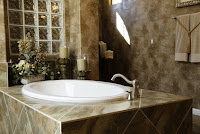 Neutral Stone Bath