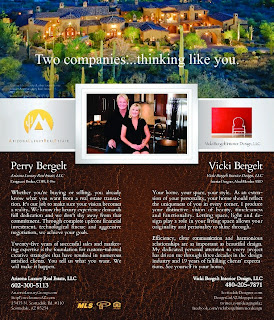 Joining Forces! Vicki Bergelt Interior Design & Arizona Luxury Real Estate