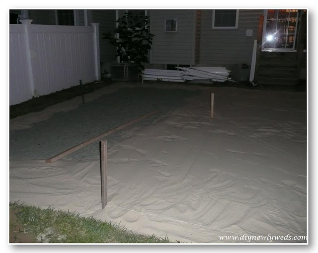 install patio sand layer