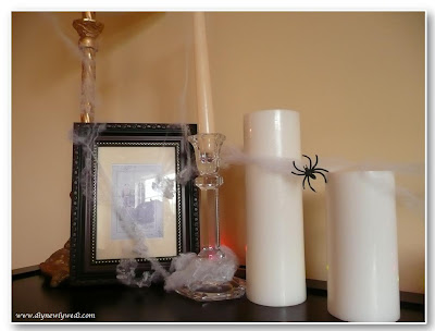 Spooky Halloween Cobweb Table Decor