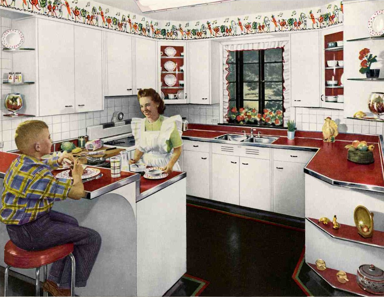 Sassy lassies vintage life i 39 m dreaming of a 40 39 s kitchen for Vintage kitchen designs photos