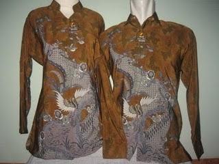 baju batik sepasang ayah dan ibu batik pasangan laki perempuan murah