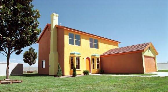 Design fetish the real simpsons house for Frentes de casas pintadas