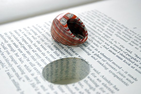 http://1.bp.blogspot.com/_R0Rc6mb8H6E/TH877OXnczI/AAAAAAAAHFI/3v8B41ZeRaQ/s1600/design-fetish-jeremy-mays-paper-rings-carved-from-books-1.jpg