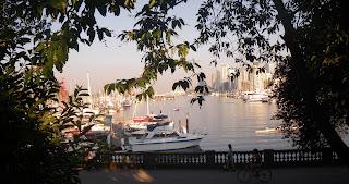 Vancouver's Marina near Stanley Park main entrance