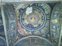 Horezu Monastery entrance paintings, Romania, UNESCO Patrimony