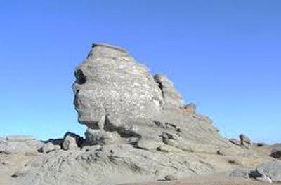 Sfinx, megalithic natural sculpture at 2290m altitude in Bucegi Mountains, Romania